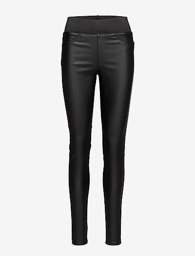 FQSHANTAL-PA-COOPER - pantalons en cuir - black