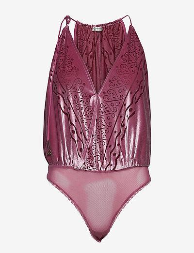Body Talk Bodysuit - bodies & slips - red velvet