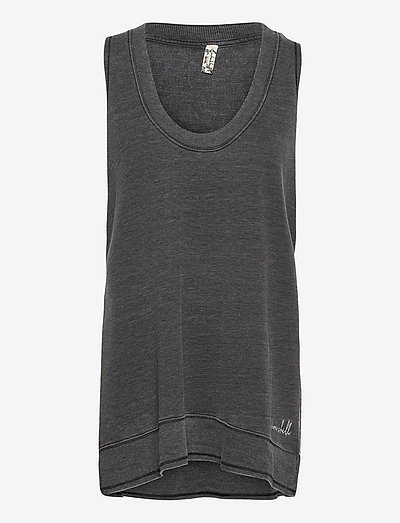 COZY GIRL TANK - sleeveless tops - washed black
