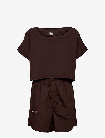 PERFECT PIMA BOXER SET - pyjamas - cocoa bean