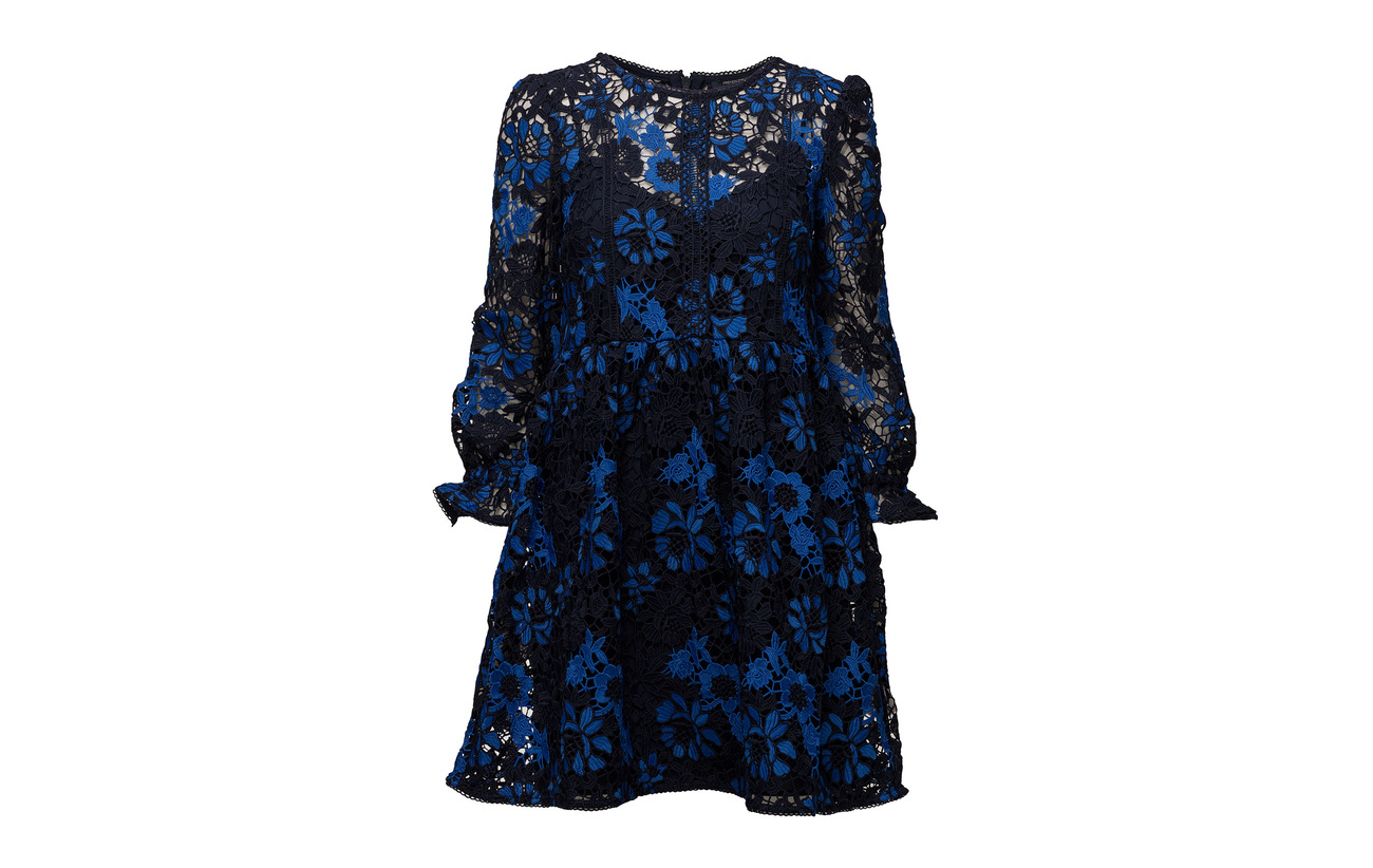 Heritage Flared Long Mix Musea Connection Polyester 100 French Multi Sleeve Lace Dress 4qBSfnw8