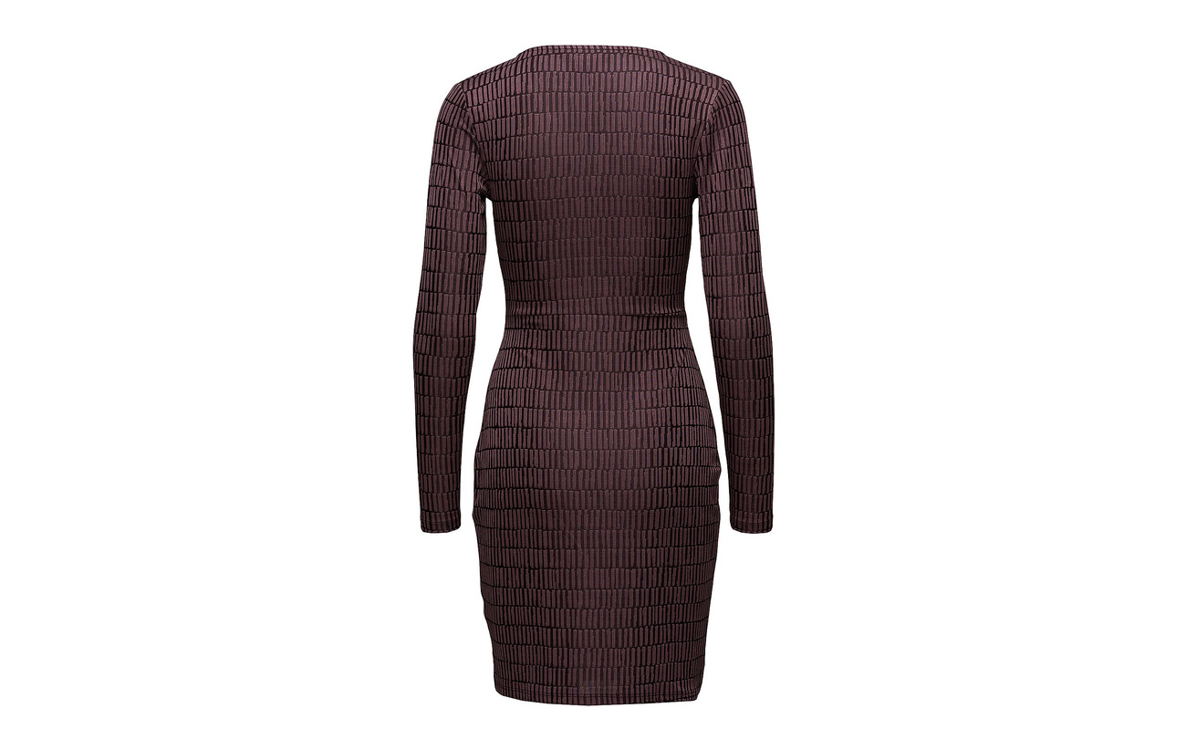 Linear Elastane Rose Polyester Dress Jazquard Connection Vneck French Tyrian 5 95 UqwF5xS