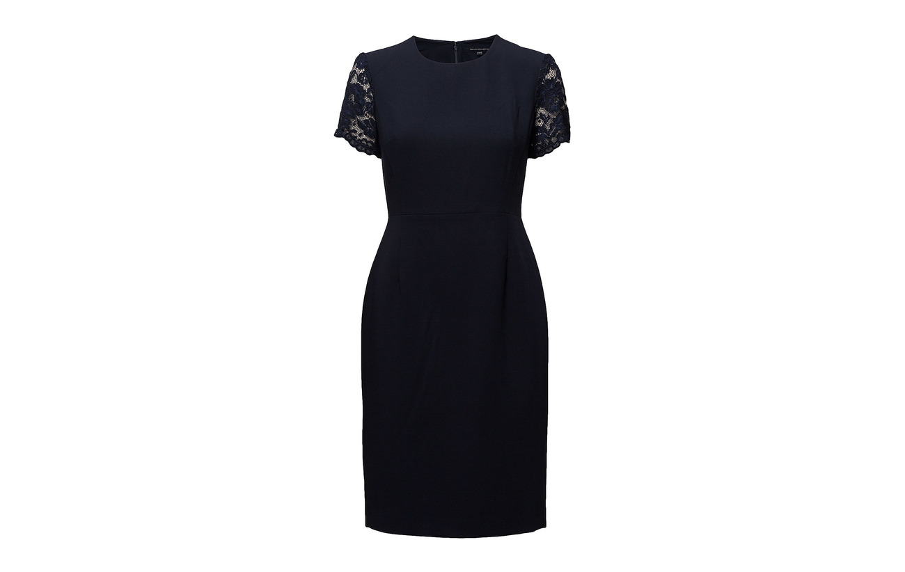 Polyester Whisper Sleeve Viscose Ruth V Nocturnal French Elastane 6 30 64 neck Short Connection Dress Flared R4PwqF