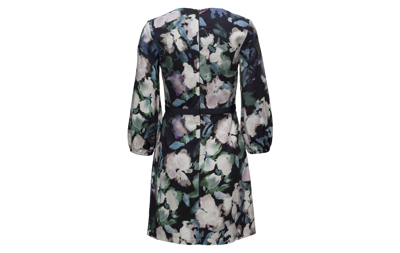Multi Modale Rayonne Dress Print Flare Elastane Fit Blue French 95 5 Utility Connection Dreda qTxFTw8H