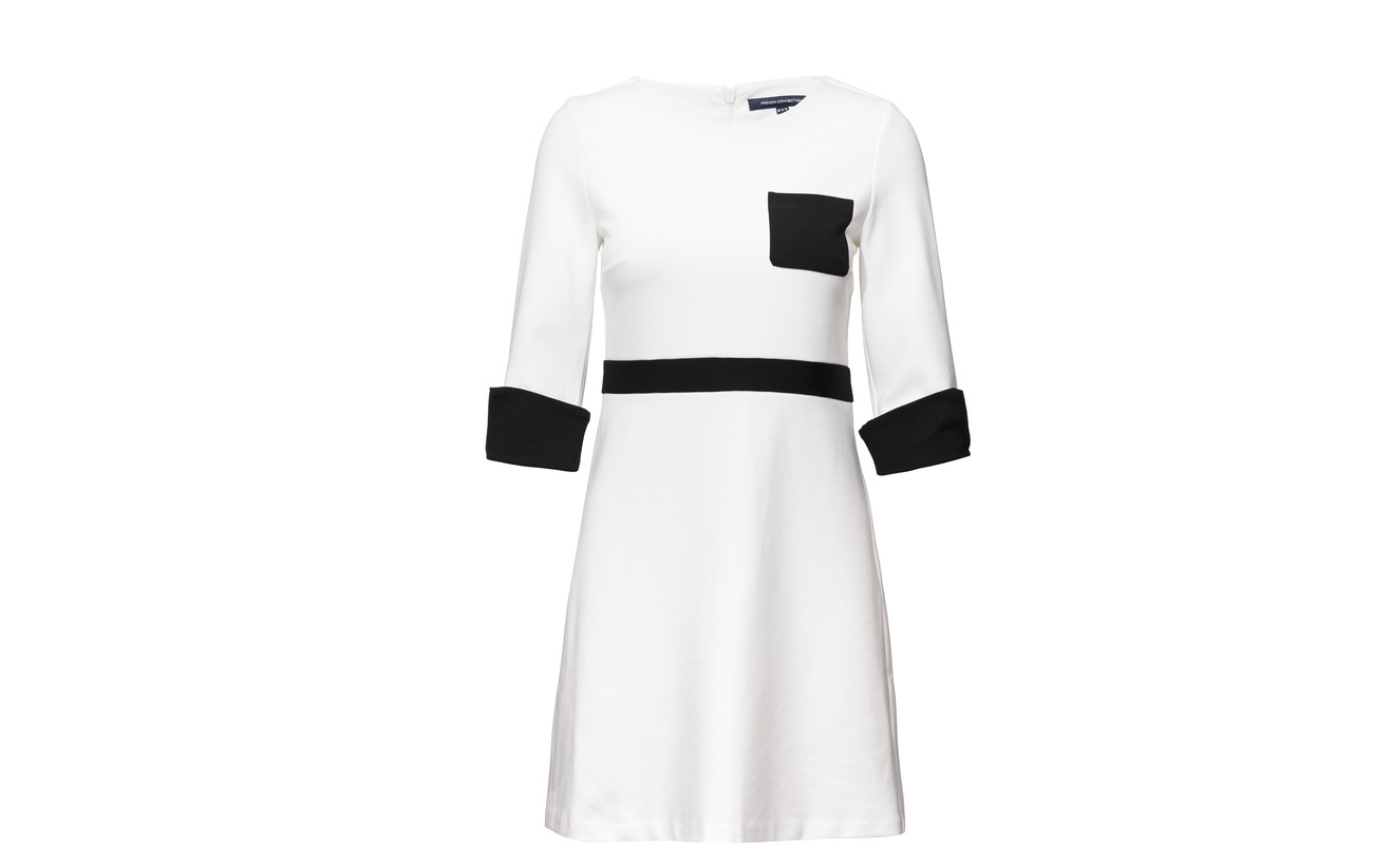 White black Gabrielle French 24 73 Nylon 3 Ls Connection Viscose Dress Winter Elastane Jersey Pkt 8WB1gWn