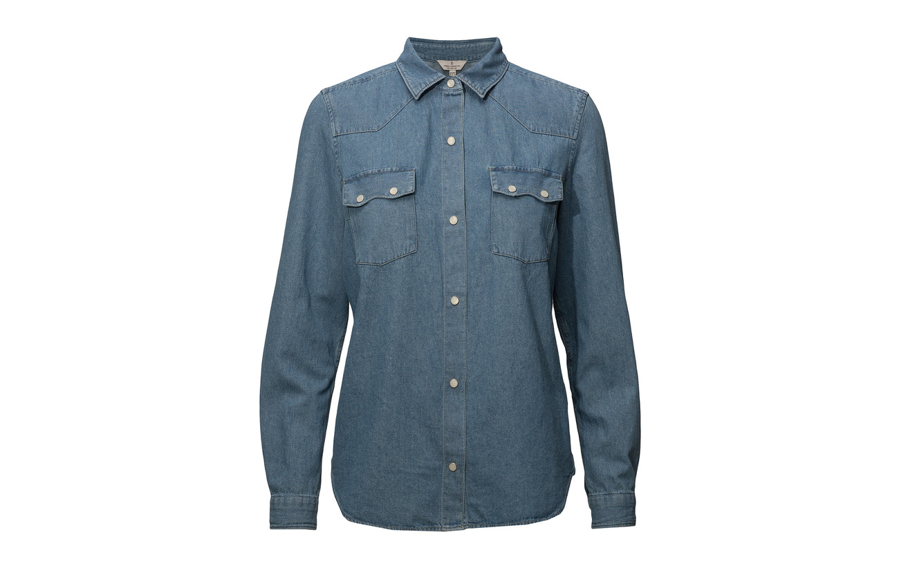 Western Shirt Denim French Bleach Connection Avery Coton 100 t44qwHpx