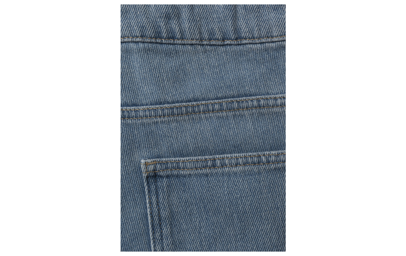 Rise French Jeans Straight Bleach High Coton Connection Ripped 100 14qpP