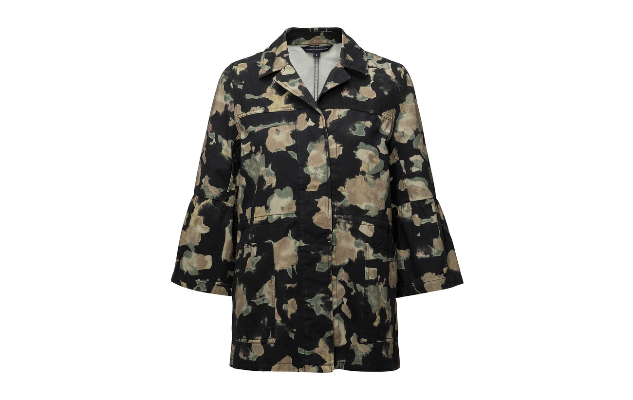 Multi Camoflauge Utility 100 Connection Jacket French Coton Black Balla 61pTYw