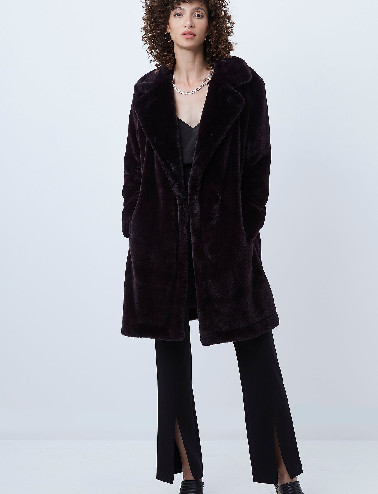 French Connection - PF BANNA FAUX FUR LONG COAT - faux fur - decadence - 0