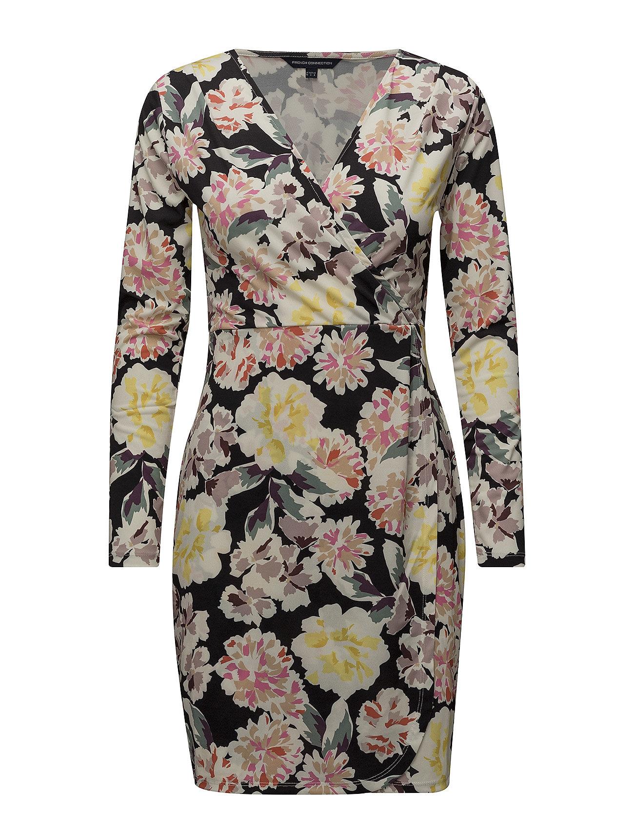9245981a975 Enoshima Print V-neck Jersey Dress (Black Multi) (66 €) - French ...