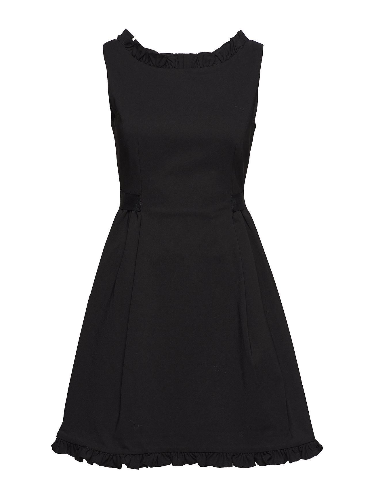 FRENCH CONNECTION Alvina Stretch Frill Bltd Drss Kleid Schwarz FRENCH CONNECTION