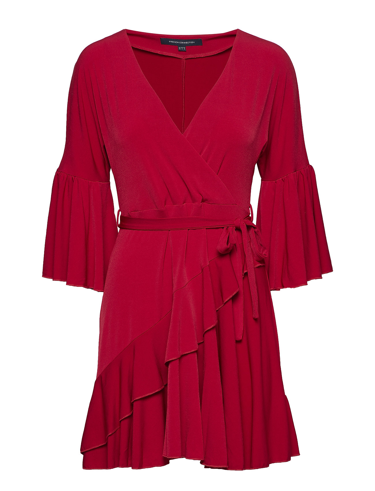 5a11f4ce6d3 Ellette Jersey Vnck Wrap Dress (Deep Framboise) (£53.04) - French ...