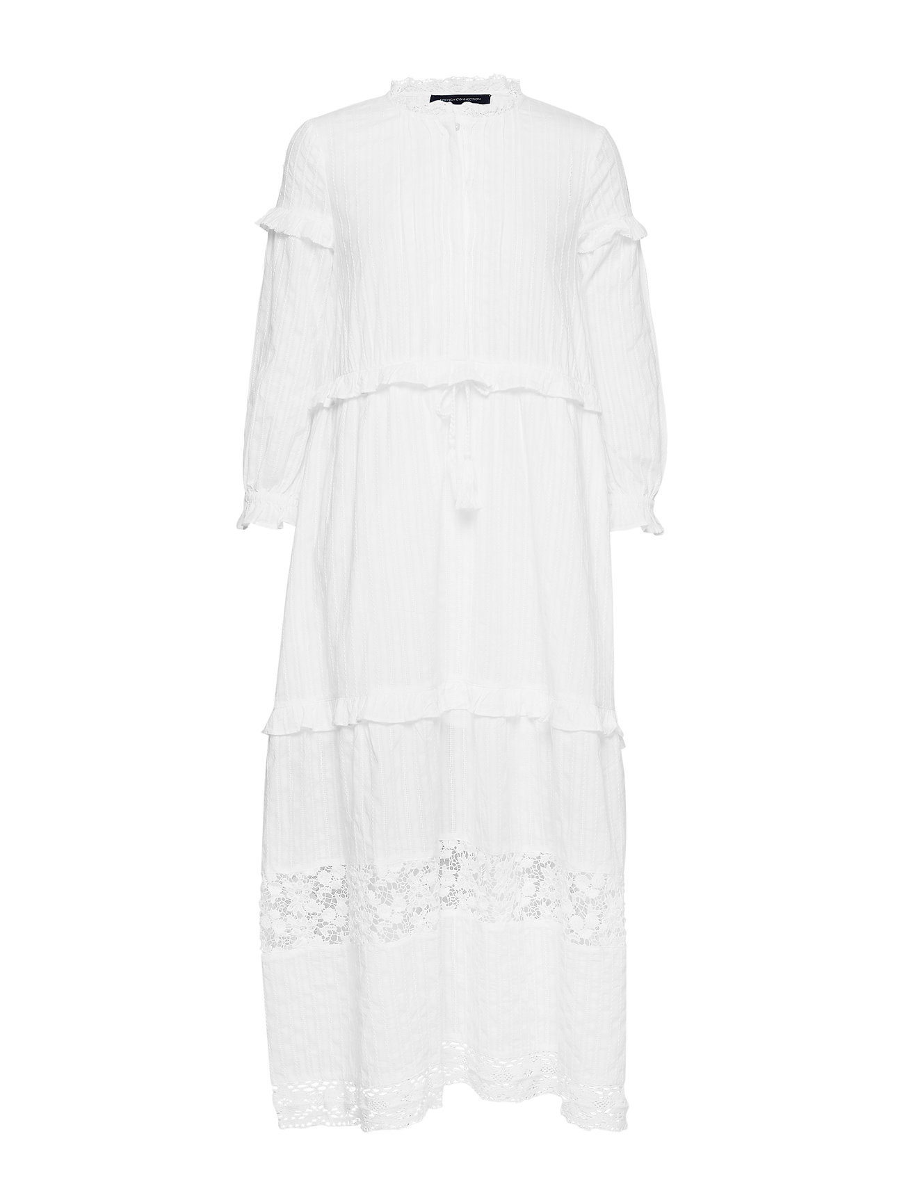 French Connection COTTON BROIDERY DRESS - SUMMER WHITE