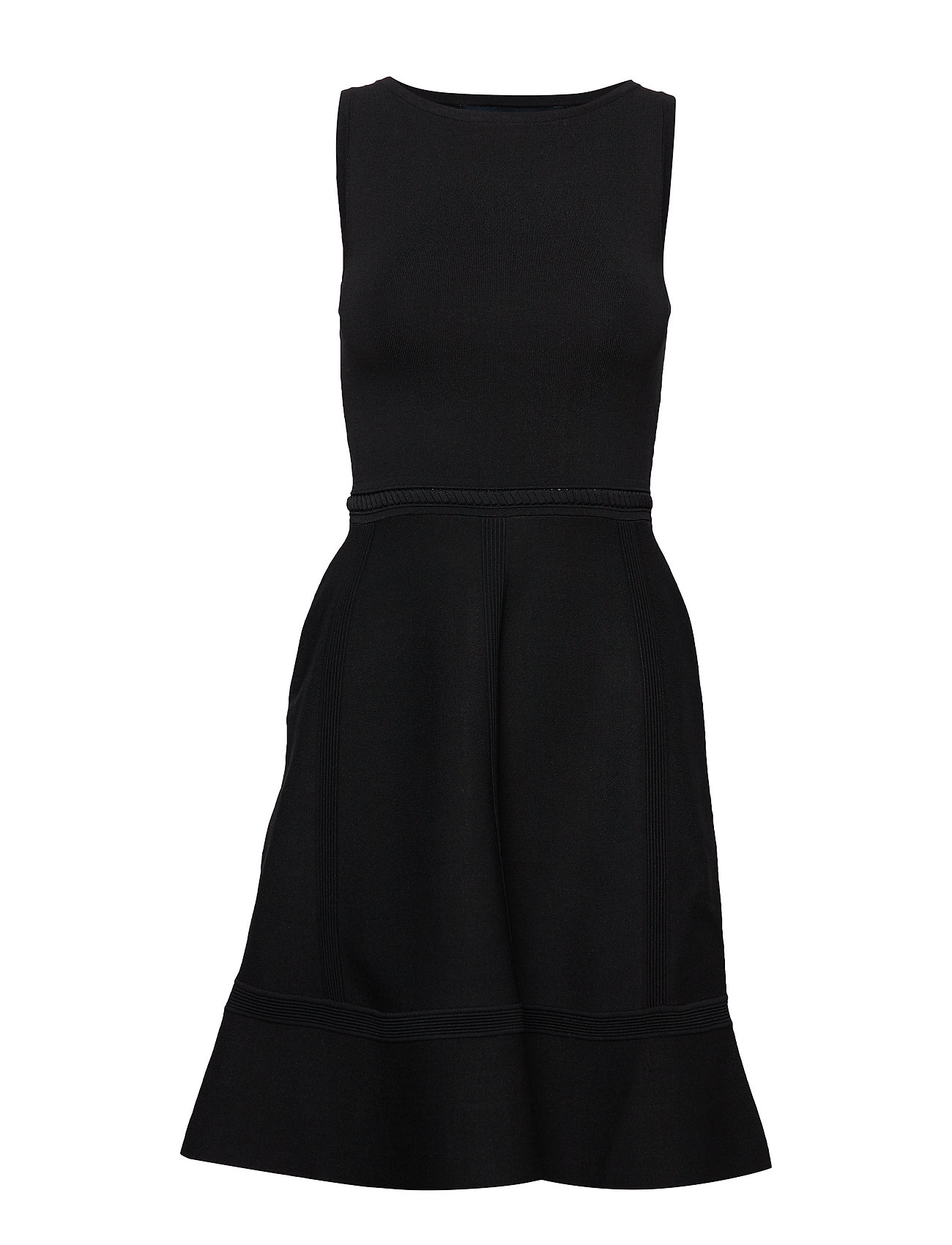 French Connection TIA TOBEY FIT N FLARE DRESS - BLACK