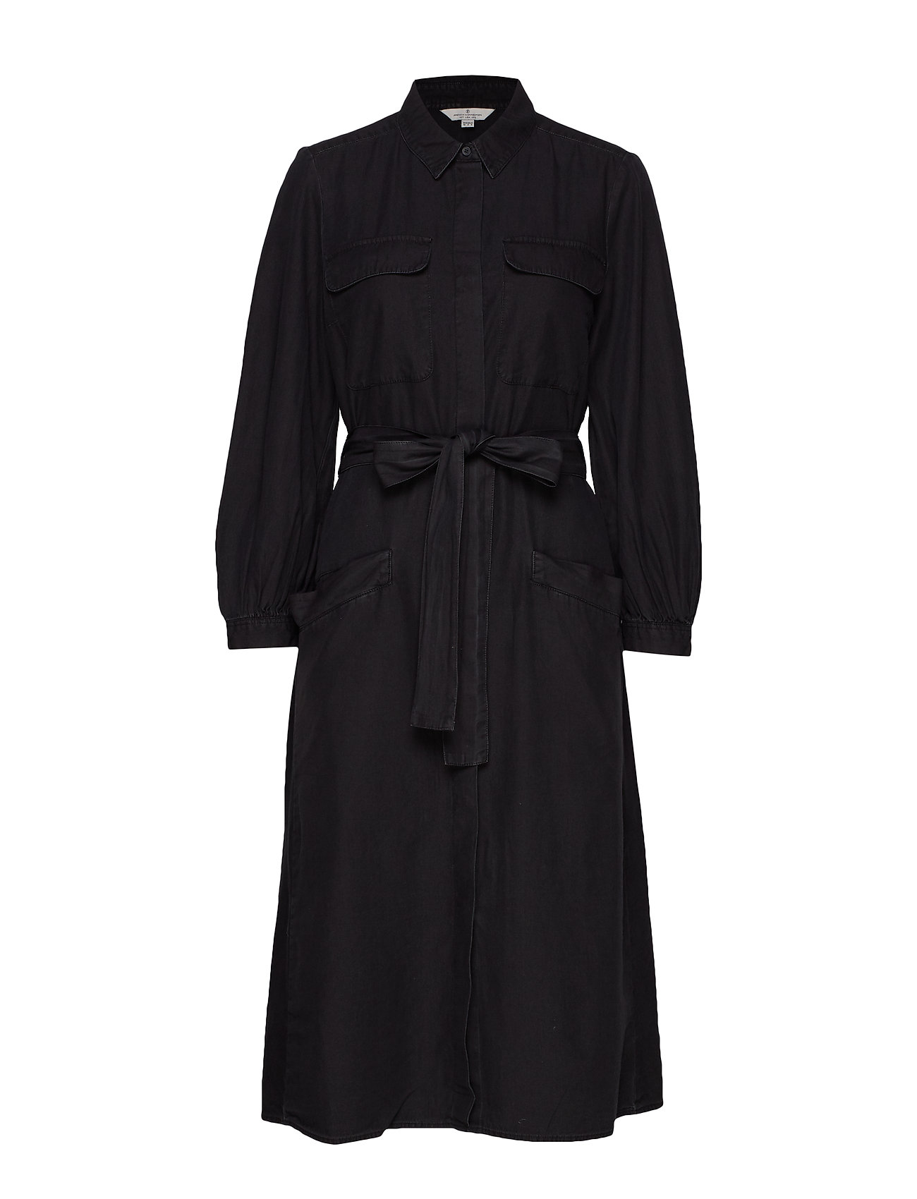 French Connection LUISA CHAMBRAY BELTED DRESS - VINTAGE BLACK