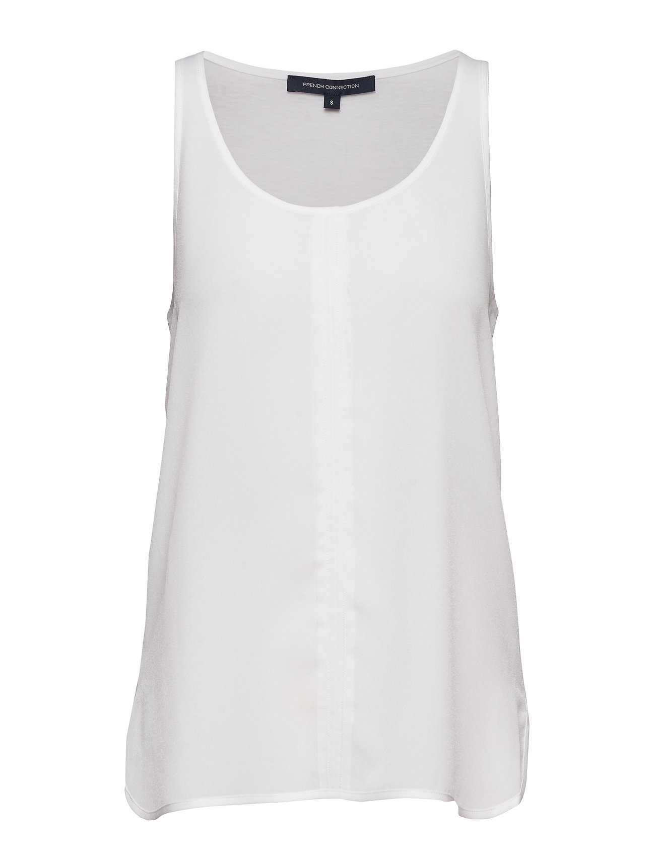 French Connection CLEE CREPE LIGHT VEST - SUMMER WHITE