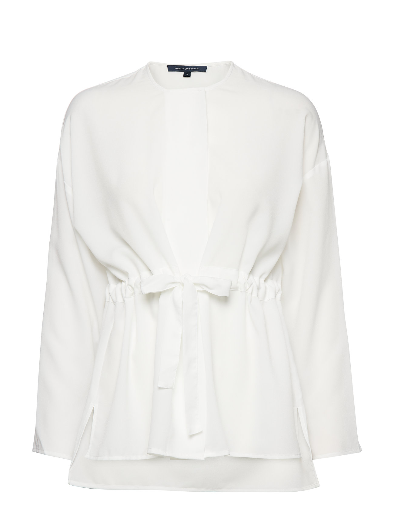 French Connection CREPE LGHT SLD GATHRD WAIST BL - WINTER WHITE
