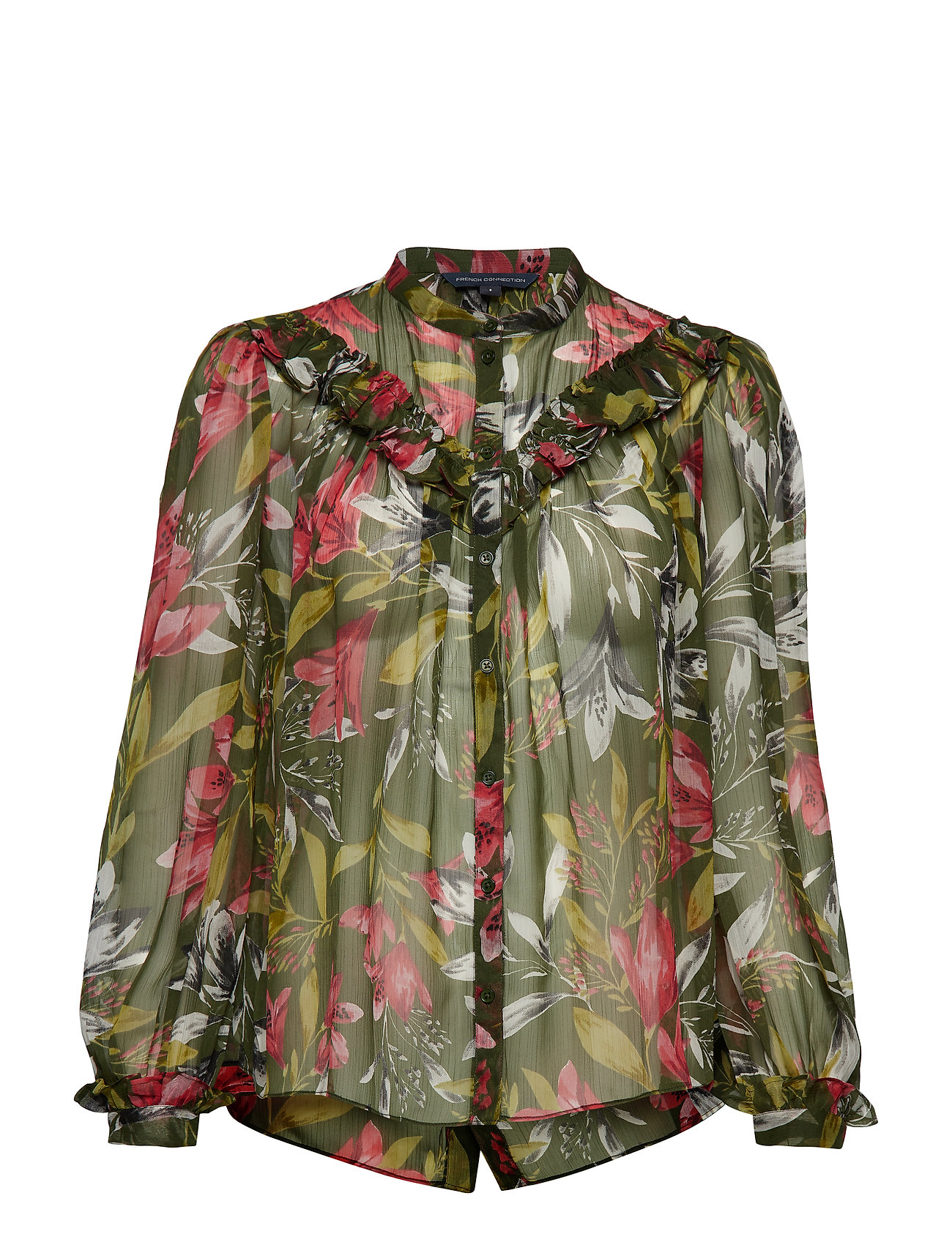 French Connection FLORETA CRINKLE PRINTED BLOUSE