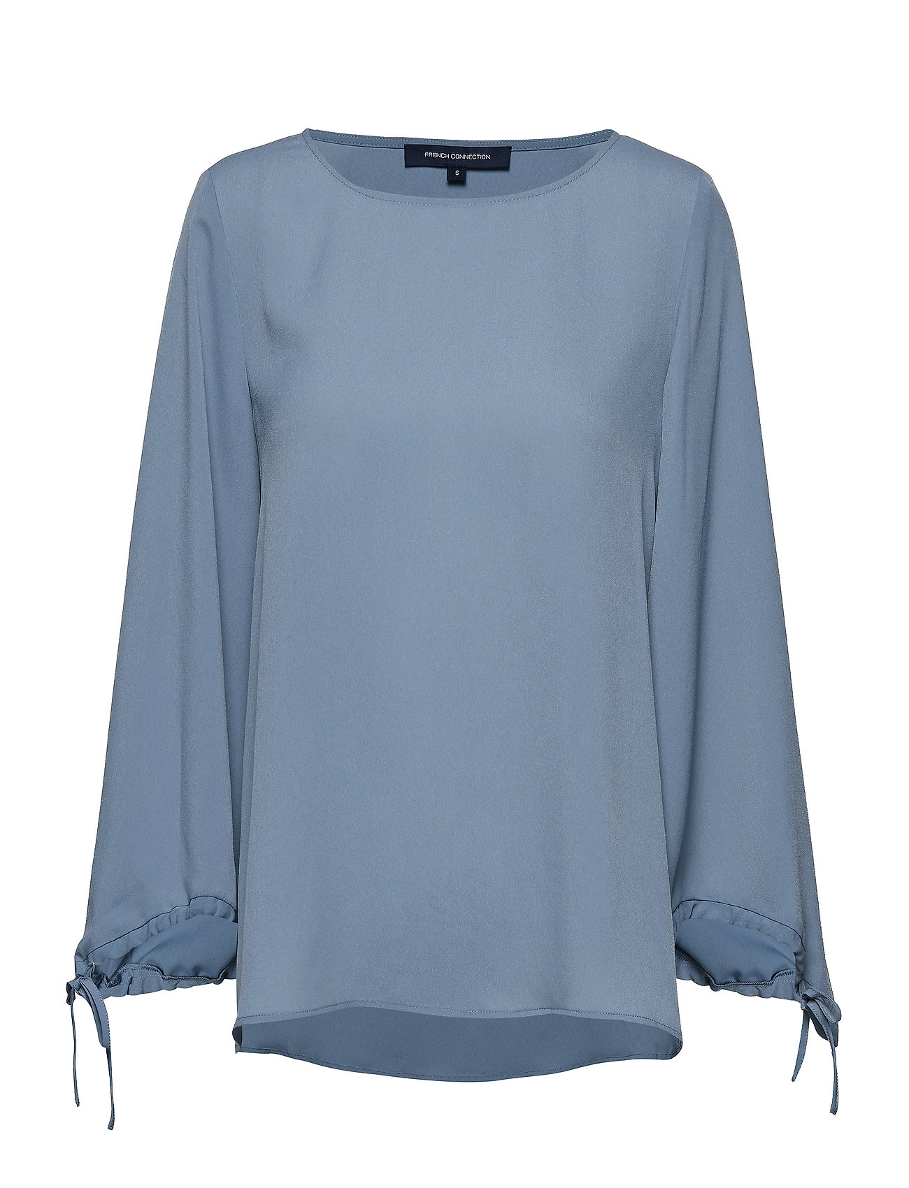 French Connection CREPE LIGHT SOLID PUFF SLEEVE BLOUSE - SUMMER SURF