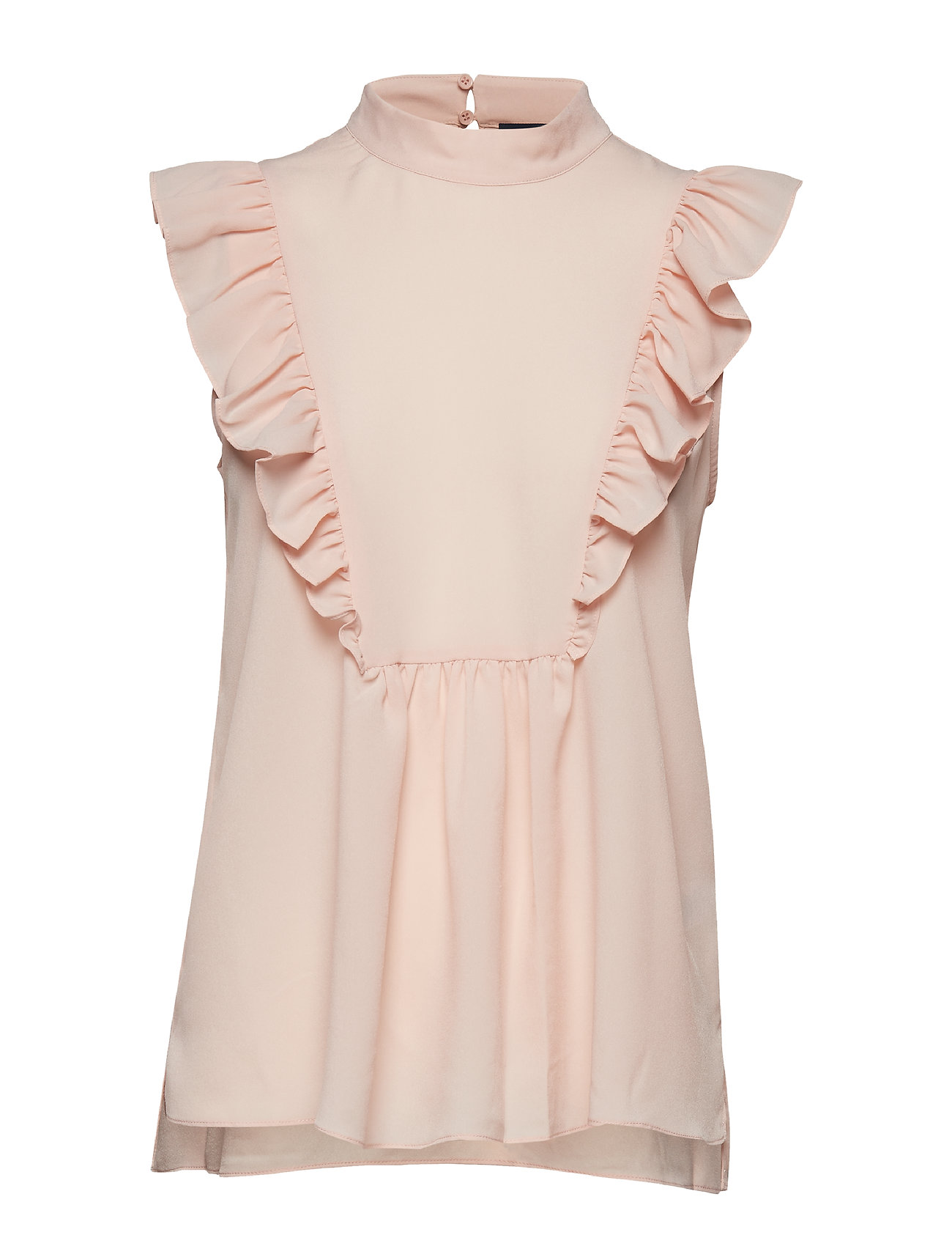 French Connection CREPE LIGHT SOLID MOCK NECK TOP - SATIN SLIPPER