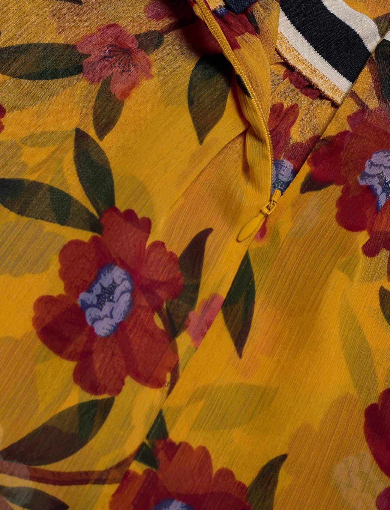 French Connection ELOISE CRINKLE L/S PRINTED TOP - Bluzki & Koszule MUSTARD SEEDS MULTI - Kobiety Odzież.