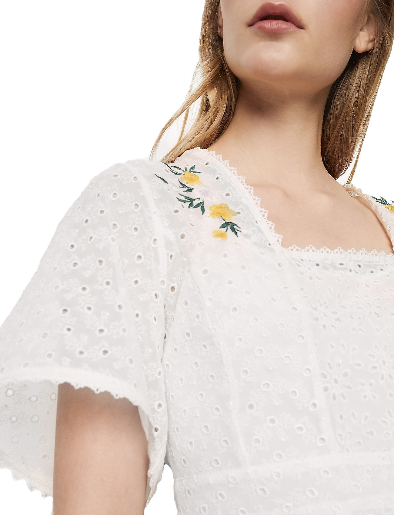 French Connection Pf Eka Embroidered Ggt Top - Blusar & Skjortor Summer White