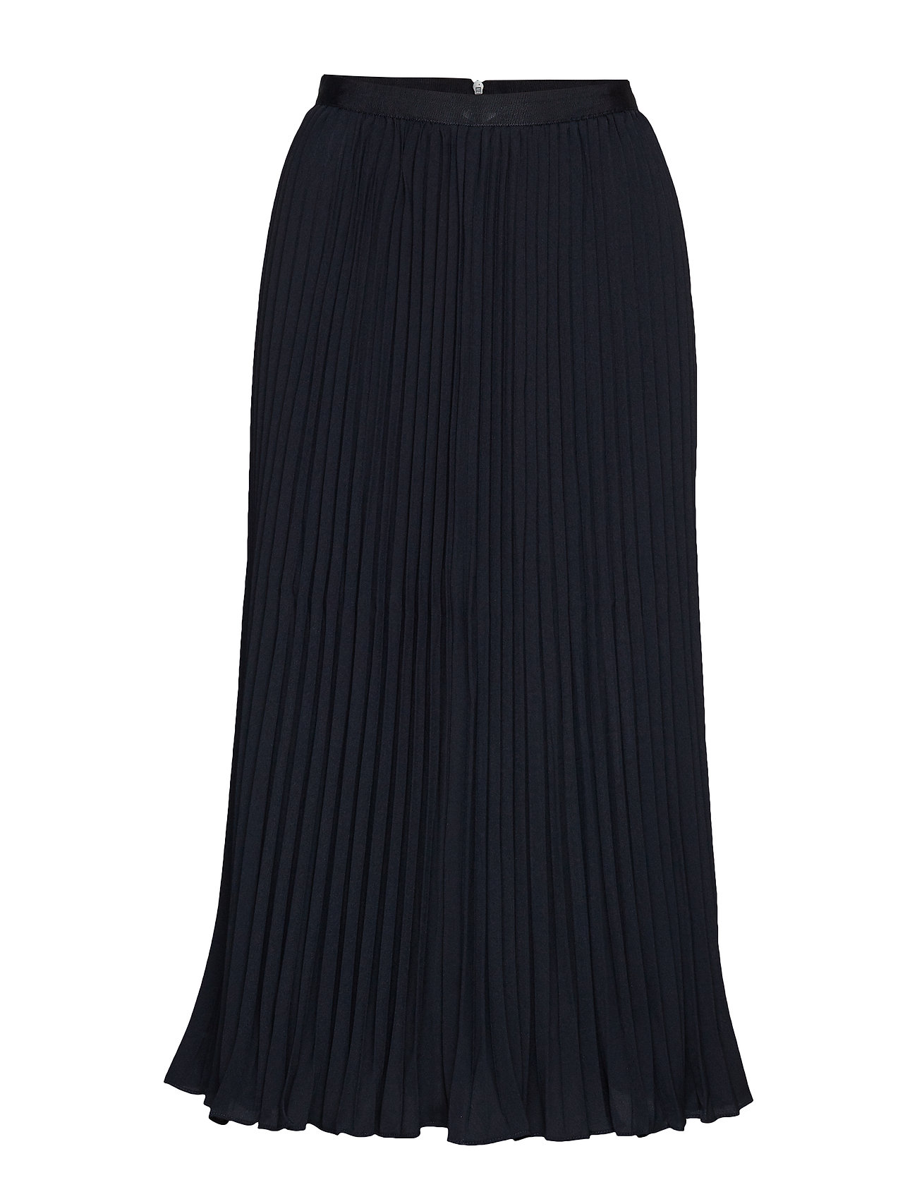 French Connection CREPE LIGHT PLEATD MIDI SKIRT - UTILITY BLUE