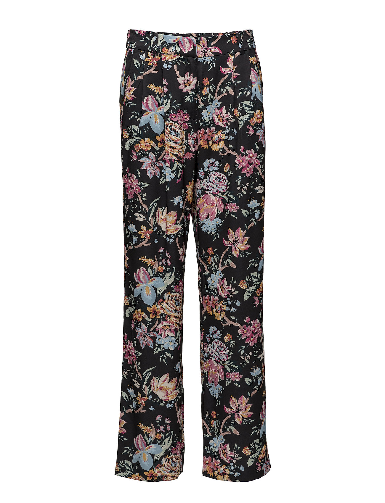 French Connection PF BRIDGET SATIN RELAXED TRSR - MULTI/BLACK