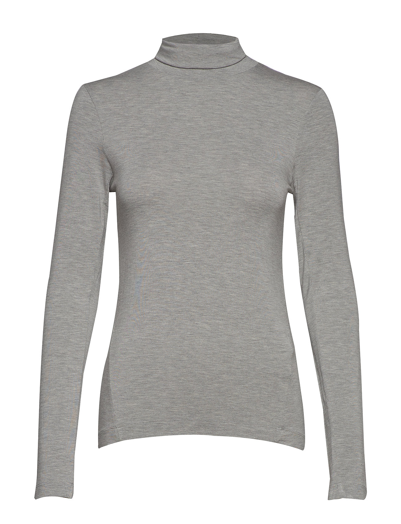 French Connection VENETIA JERSEY SPLIT CUFF TOP - LIGHT GREY MEL