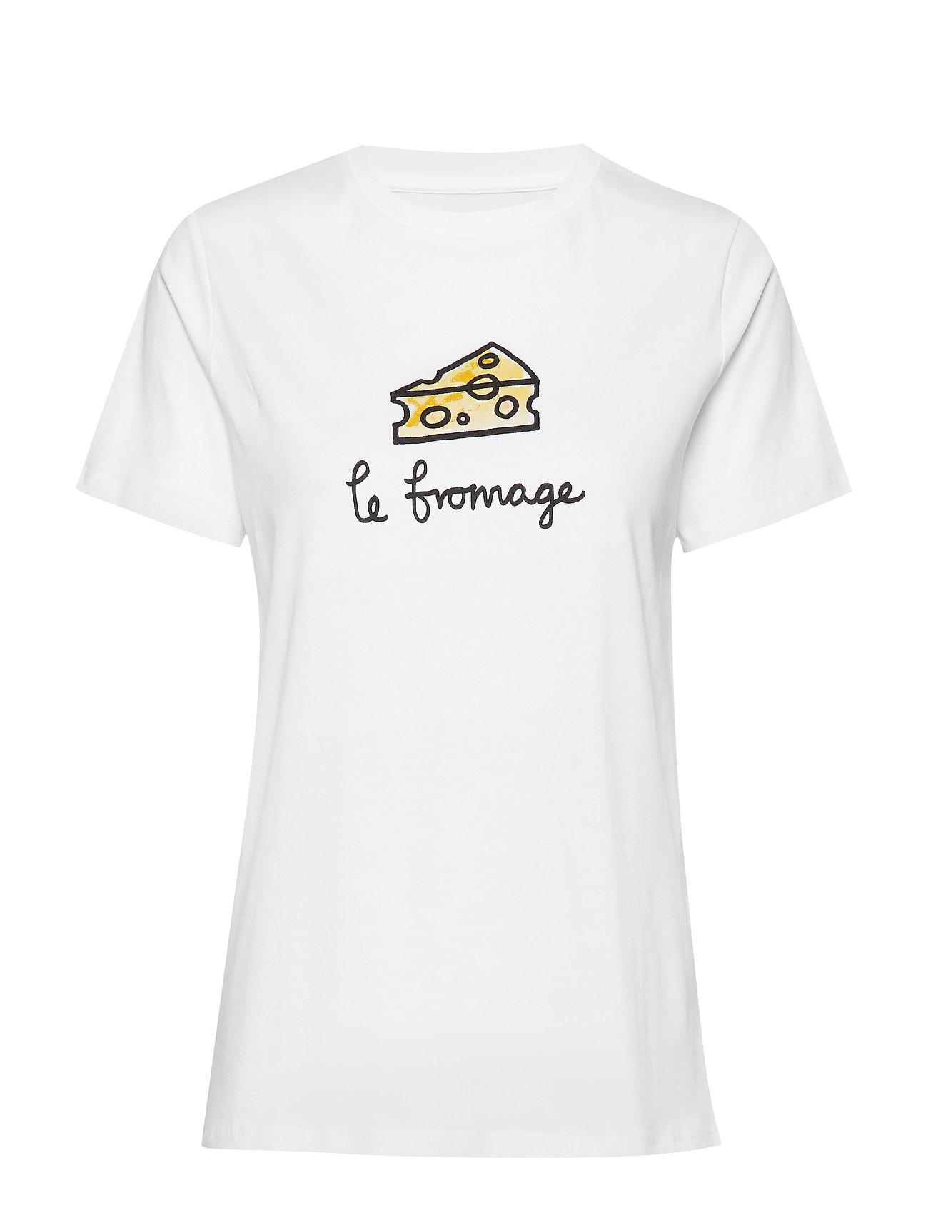 French Connection LE FROMAGE SSLV TEE - LINEN WHITE