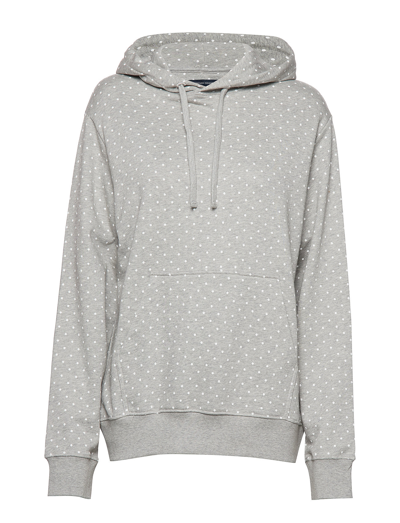 FRENCH CONNECTION Dotted Drawstring Hoodie Jrsy Hoodie Pullover Grau FRENCH CONNECTION