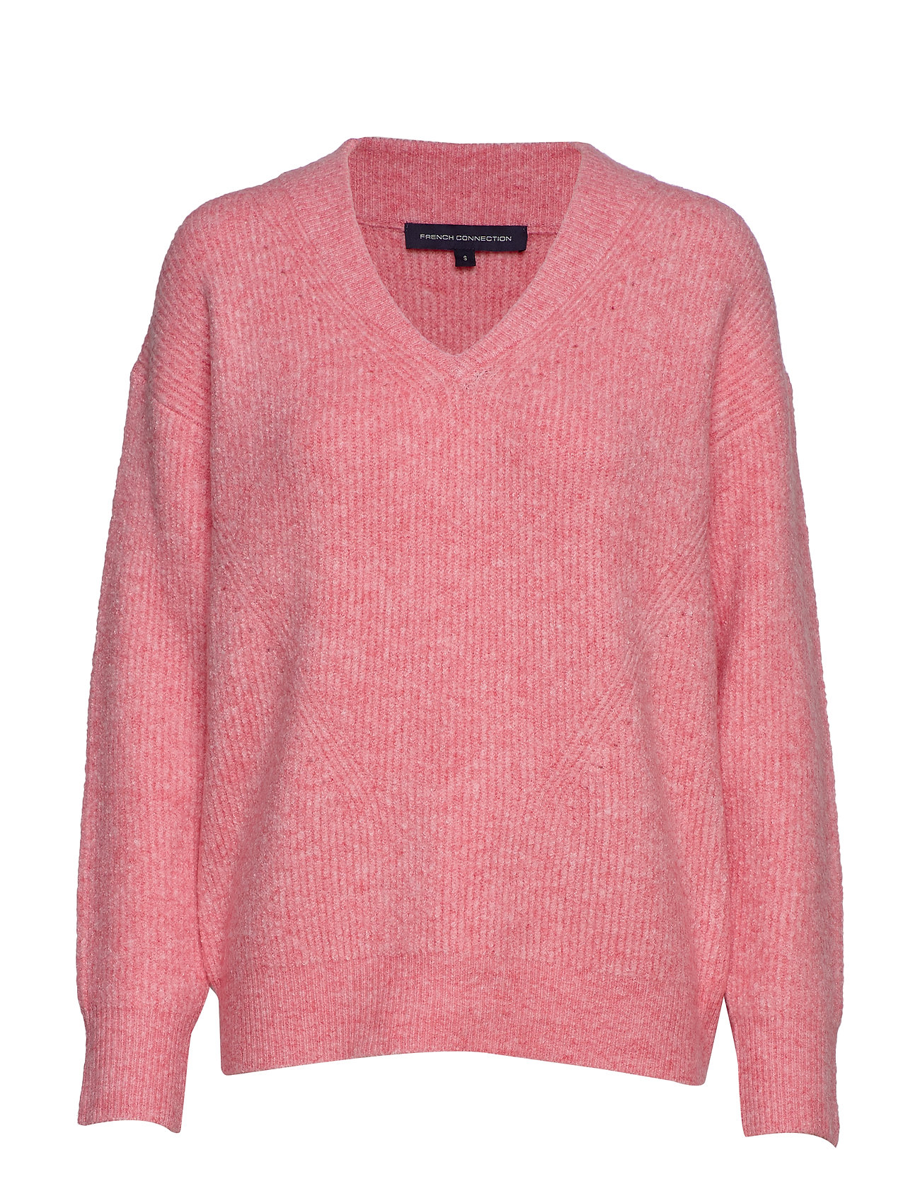 FRENCH CONNECTION Flossy Teri L/S V Nk Jumper Strickpullover Pink FRENCH CONNECTION