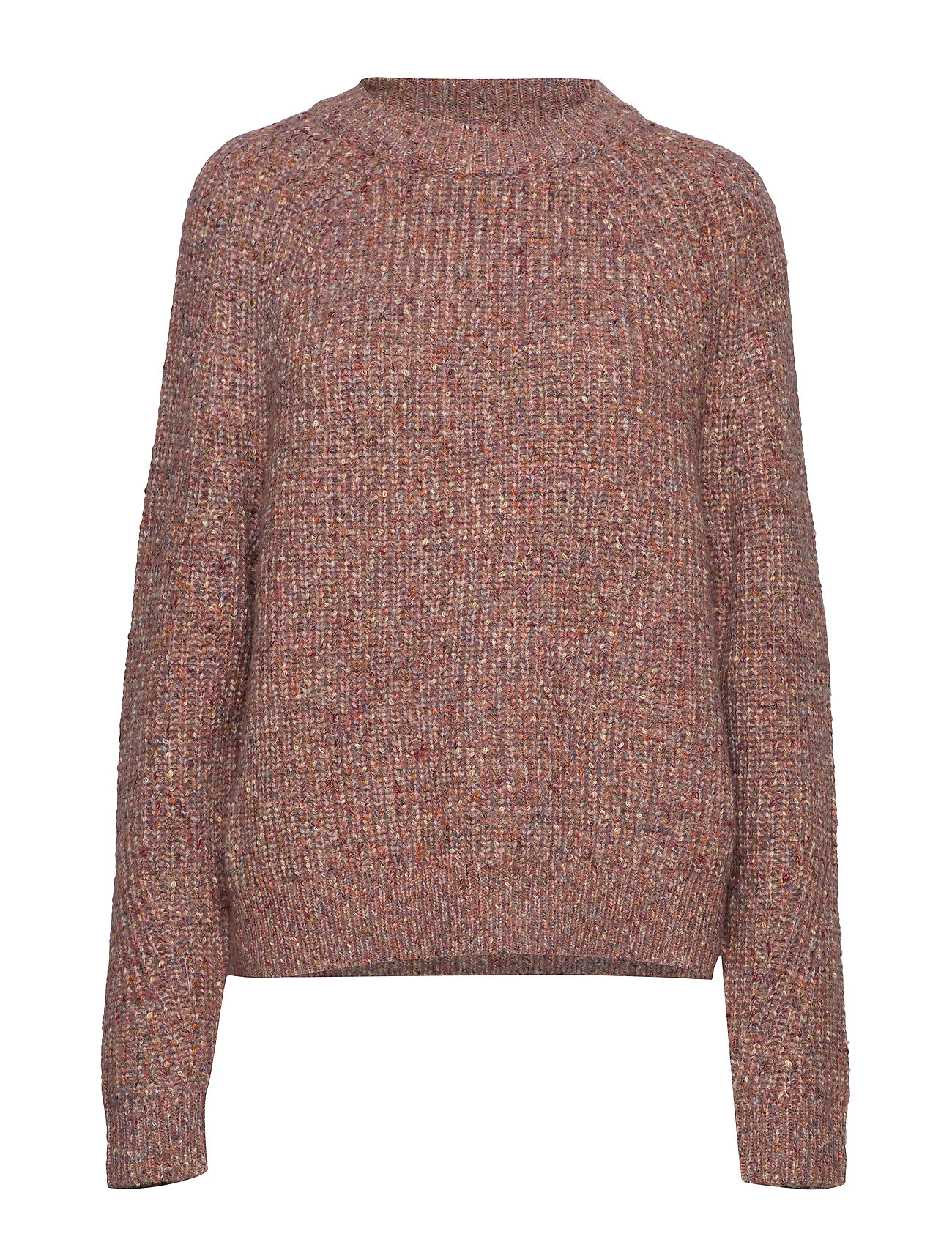 French Connection SUVIA KNITS CREW NECK JUMPER - CINDER PINK MULTI