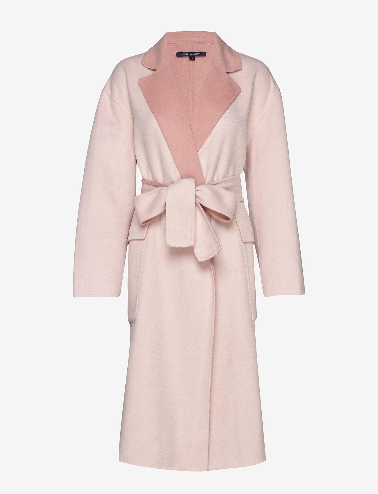Laveste Pris Kvinder Tøj.Daralice Wool Belted Coat W Wh/drk Vailla Pnk 1439.40 French Connection xG3TQM