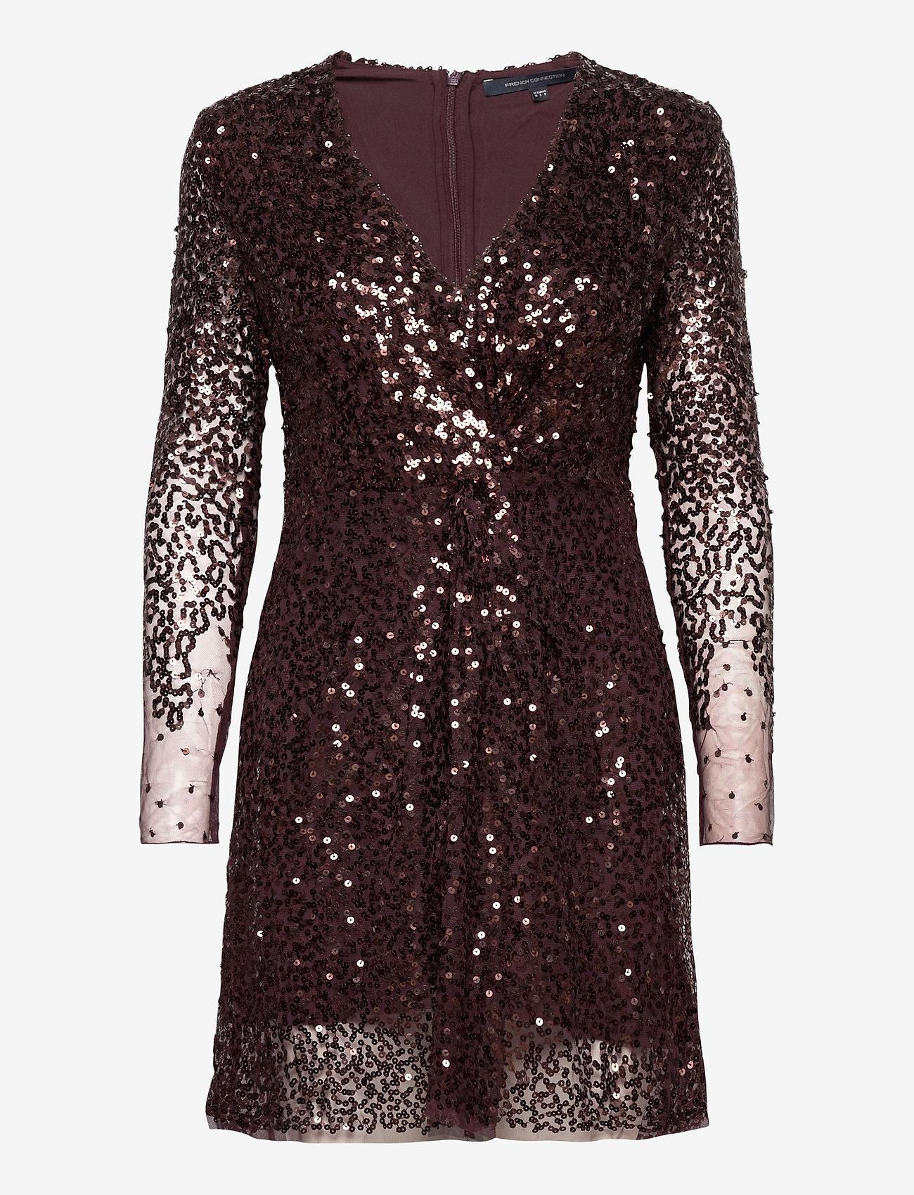 French Connection - EMILLE SPARKLE SHORT DRESS - paljettkjoler - decadence - 0