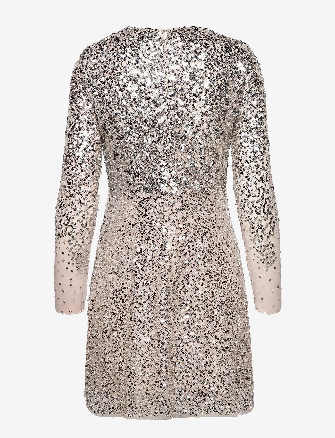 French Connection - EMILLE SPARKLE SHORT DRESS - paljettkjoler - silver/nude - 1