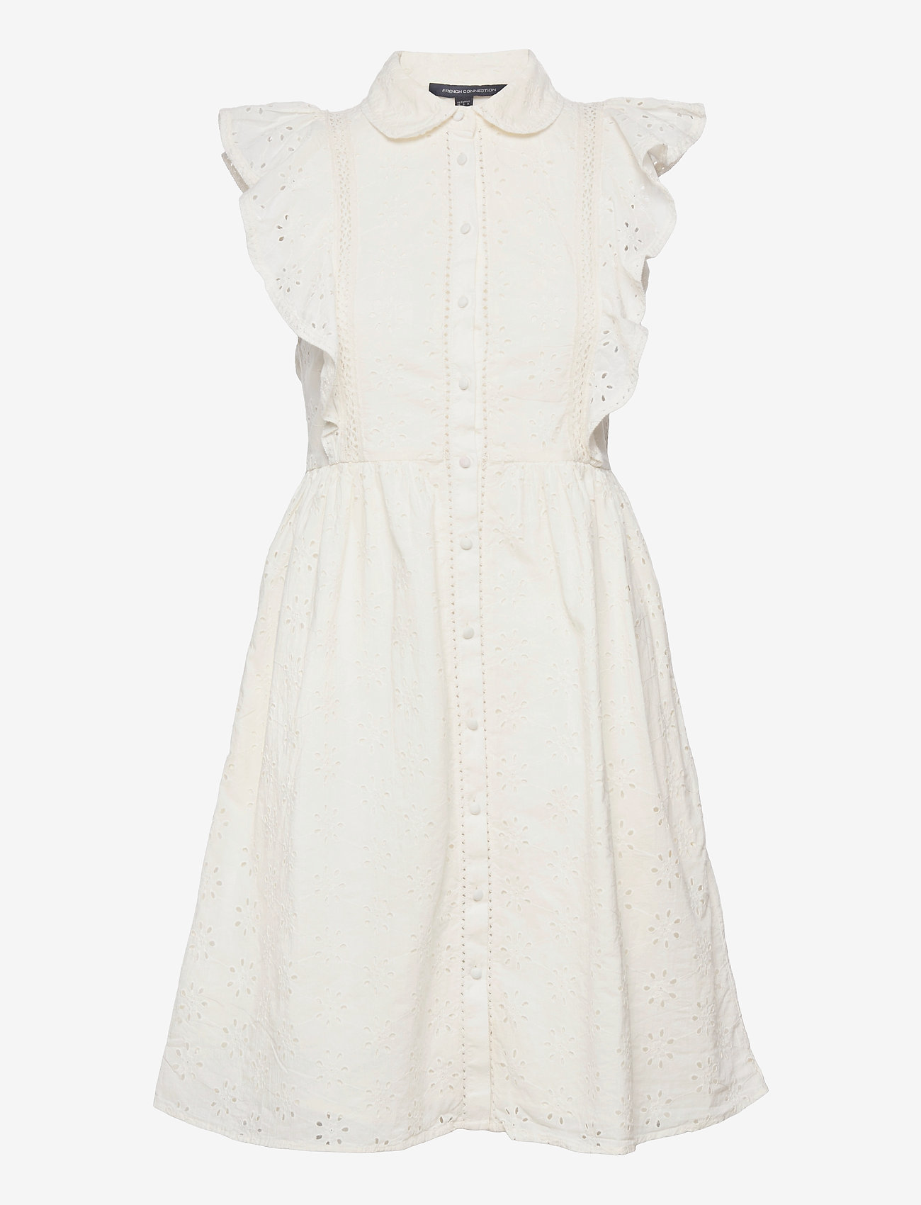 French Connection - DUNA LAWN EMBROIDERY DRESS - sommerkjoler - summer white - 1