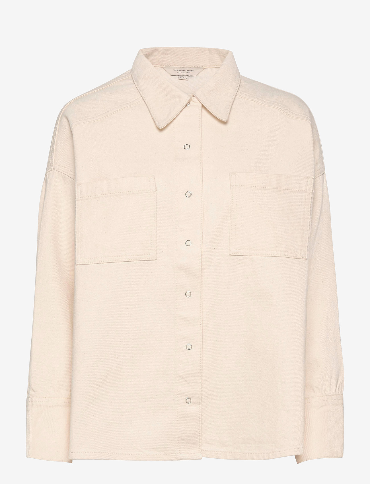 French Connection - ROKSAN SUST DNM SHACKET - overshirts - ecru - 1