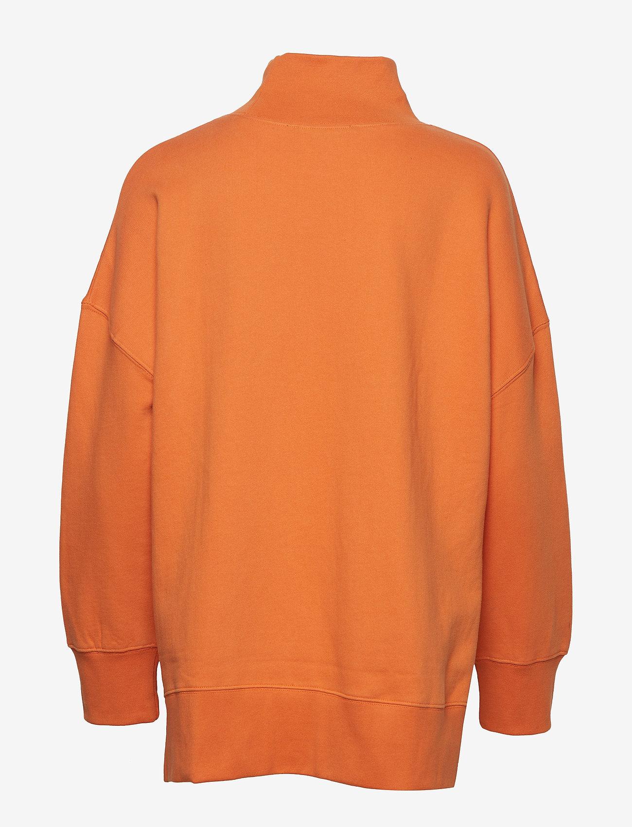 French Connection - SUNDAY SWEAT HNCK SIDE SPLIT - sweatshirts - jaffa orange - 1
