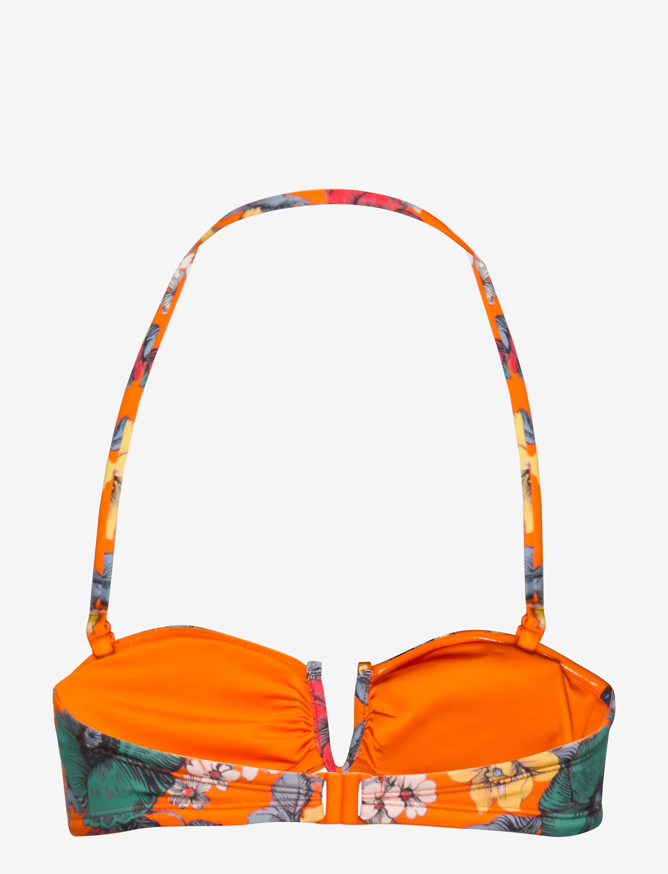 Valetudo Bandeau Bikini Top (Sunshine Orange Mult) (35 €) - French Connection WRZaL
