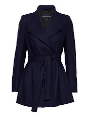 FT PLATFORM FELT CROSSOVER COAT - UTILITY BLUE