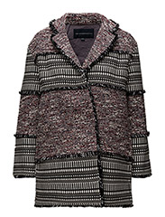 PIXEL MIX COTTON LS COAT - BLACK MULTI