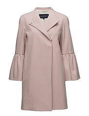 French Connection - Platform Felt Bell Sleeve Coat