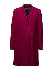 PLATFORM FELT SMART COAT - BRIGHT BAKED CHERRY