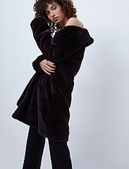 French Connection - PF BANNA FAUX FUR LONG COAT - faux fur - decadence - 4