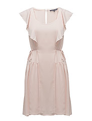 NIA DRAPE CAPPED SLEEVE MINI - PINK OPAL