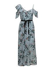 KIOA DRAPE STRAPPY MAXI DRESS - PAVILION BLUE MULTI