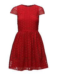 PARKER LACE FIT AND FLARE DRESS - SHANGHAI RED