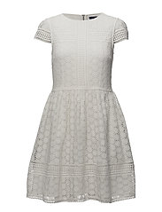 PARKER LACE FIT AND FLARE DRESS - SUMMER WHITE