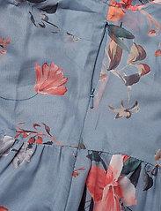 CECILE SHEER V NECK MAXI DRESS